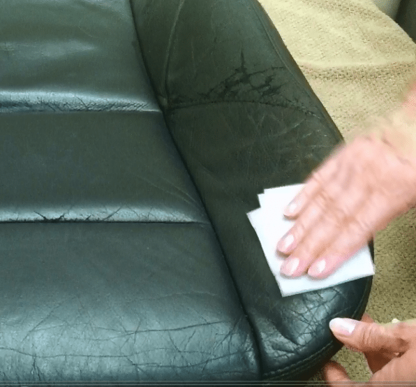 Cleaning and Preparing the Surface to Repair Leather