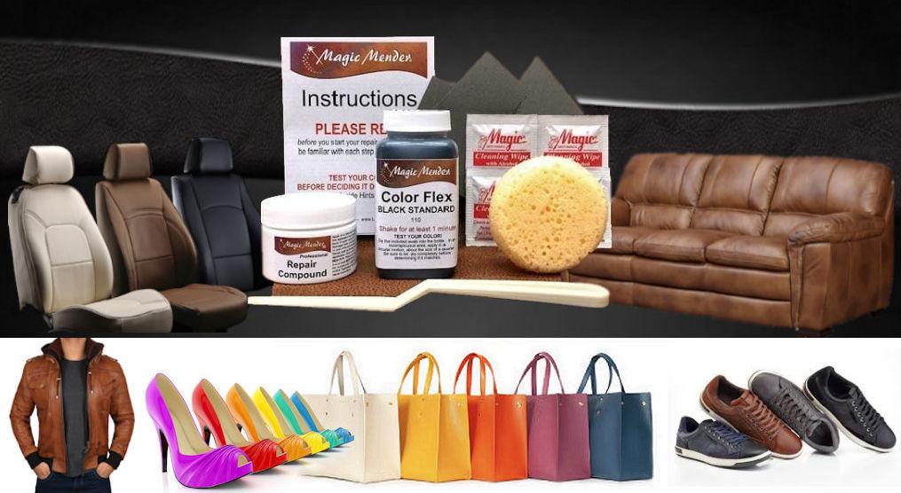 Magic Mender Leather Vinyl Repair, Leather Furniture Repair Kit